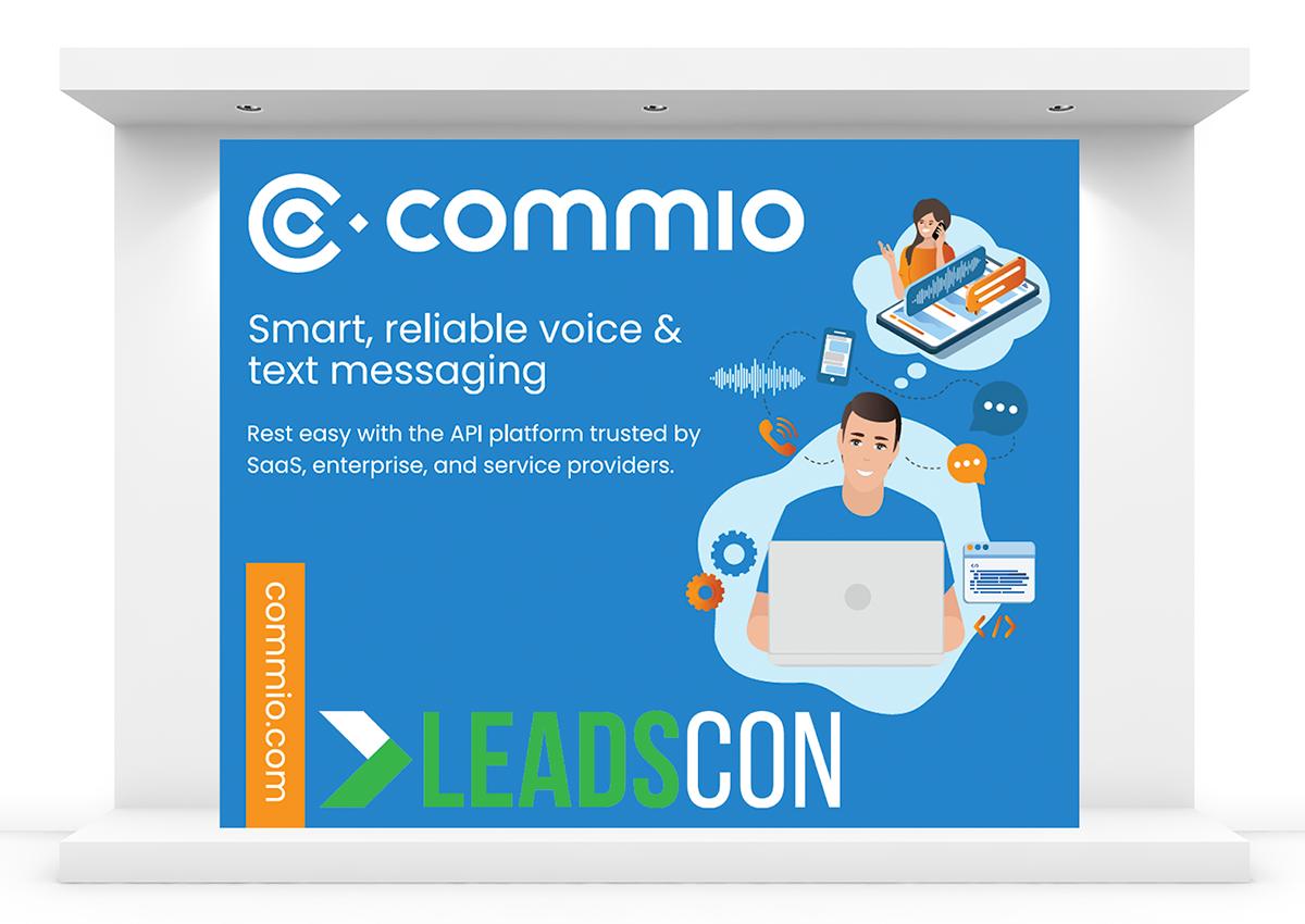 Commio Backdrop at LeadsCon